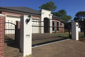spear top sliding gate infill panels